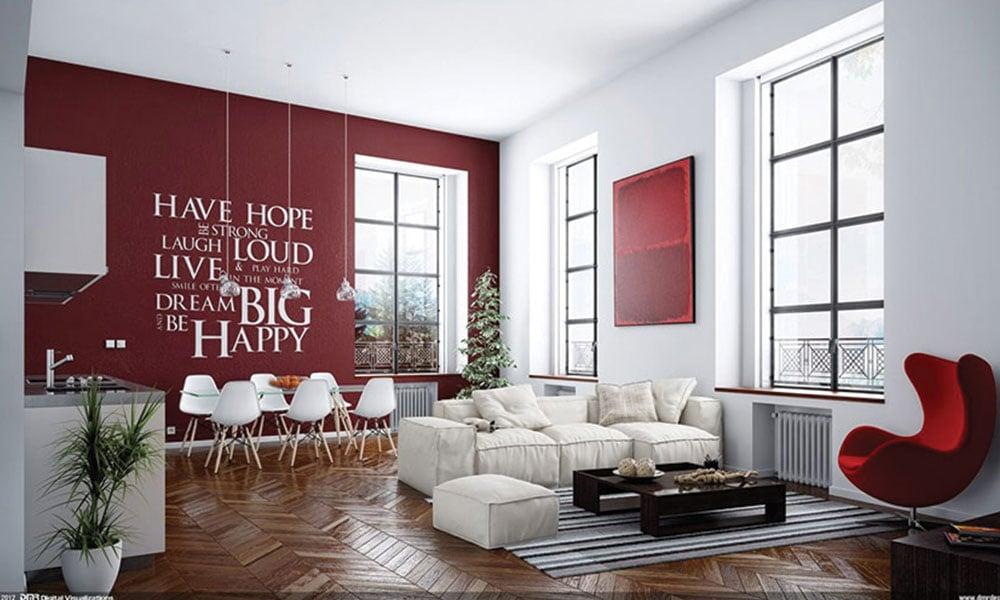 soggiorno-parete-colorato-sedie-vitra