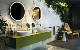 Lo stile green per il bagno