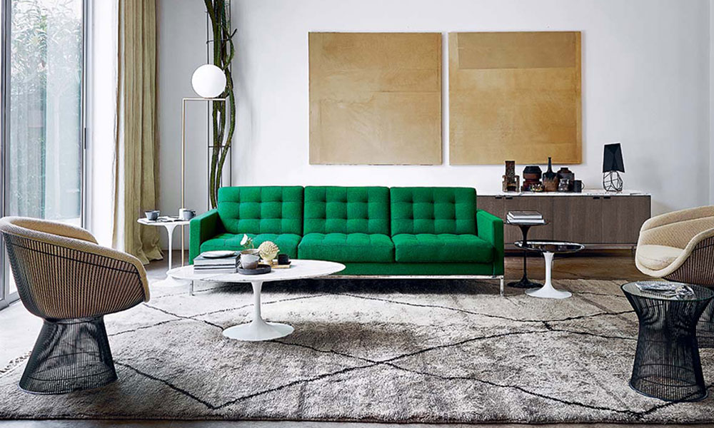 divano verde collezione florence knoll living