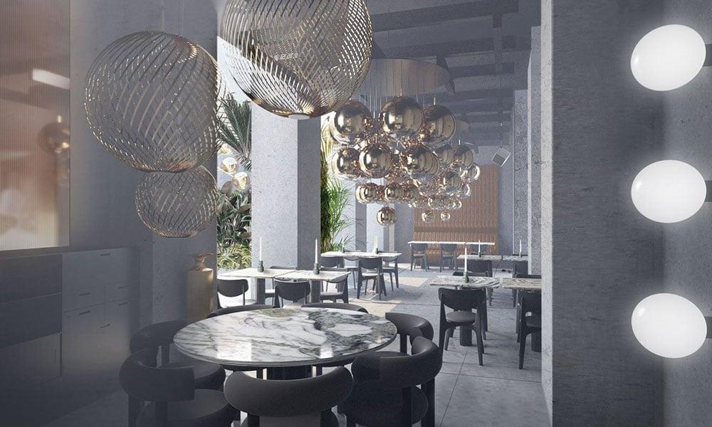 the manzoni ristorante sedie flat design Tom Dixon