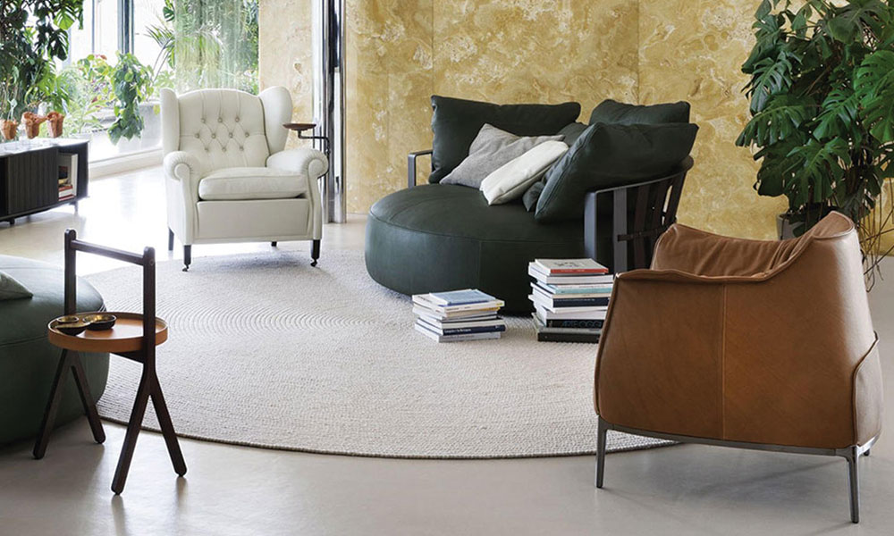 poltrona frau archibald, divano scarlett
