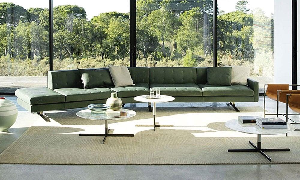 sofa in living poltrona frau