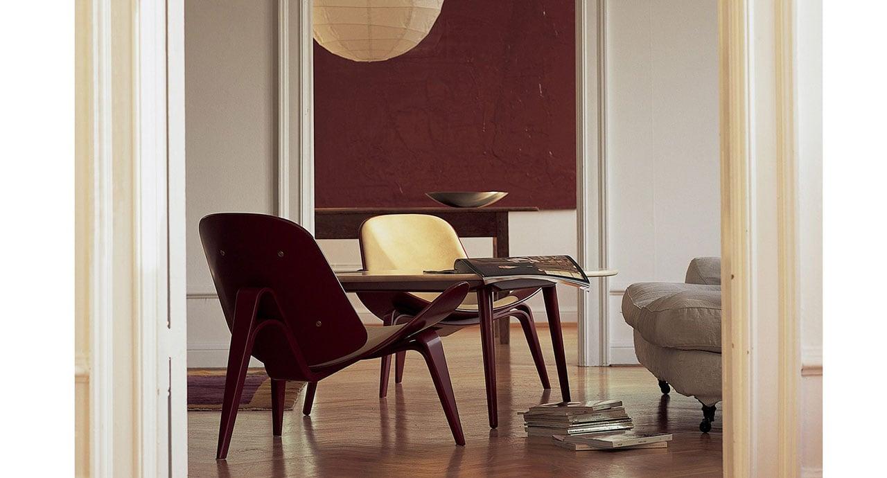 living carl hansen poltrona ch07 shell chair