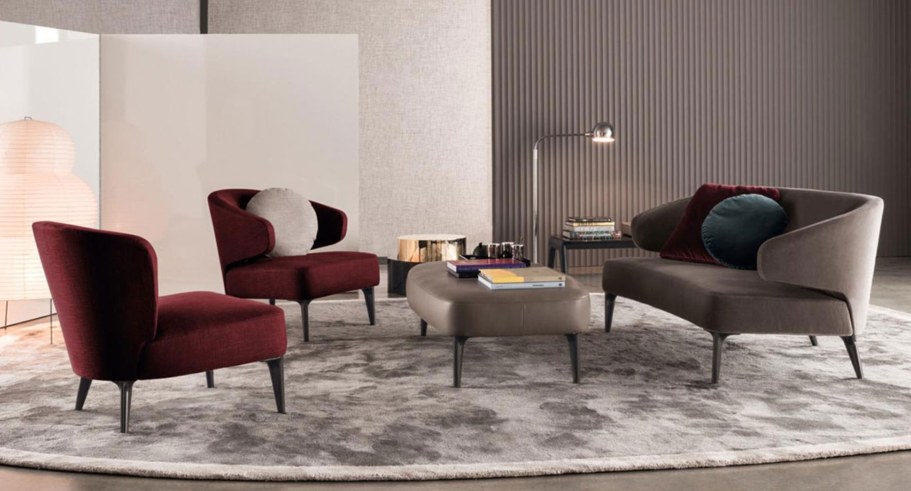 living poltrone divano pouf cassina divano