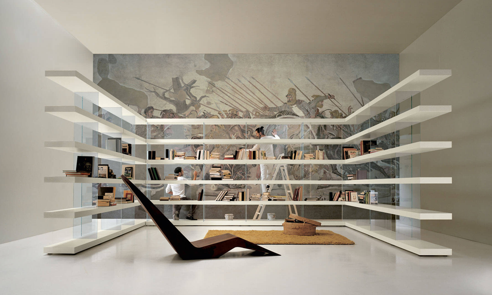 Una libreria Air di Lago total white