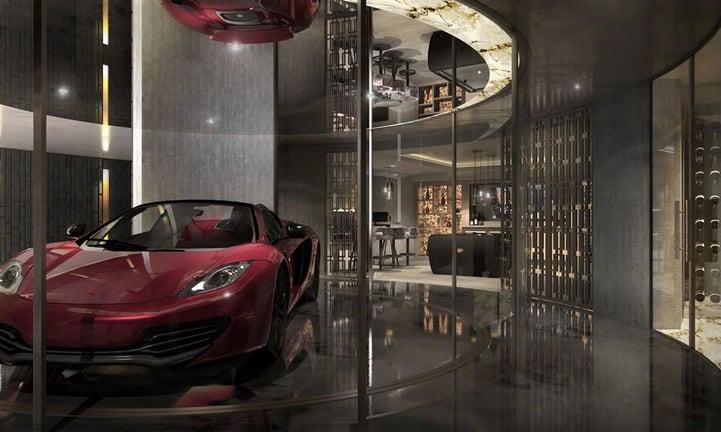 Il garage del film Iron Man