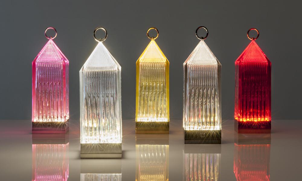 Lampade Lantern di Kartell colorate