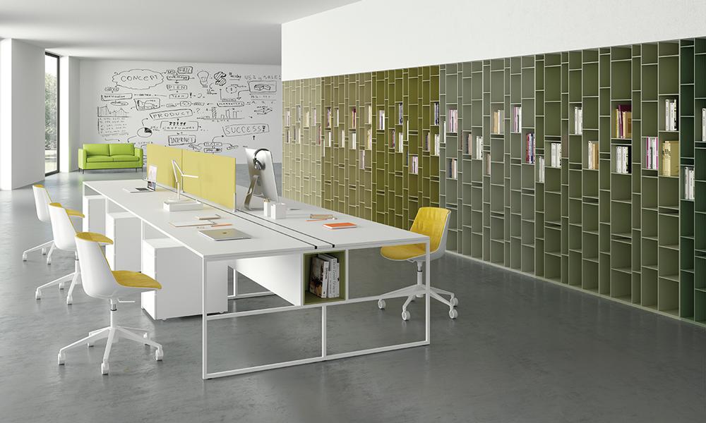 Un ufficio arredato con elementi di MDF